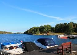 Pier bei unserem Haus im Schärengarten vo Stockholm.